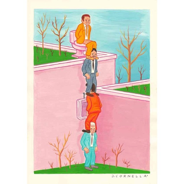 Joan Cornella Vasquez's #illustration #infamous men #worldorder #illustrator #thingswesee