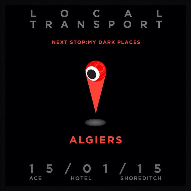 "JUST CONFIRMED: A #SENSUAL AND #SINISTER DJ SET BY ATLANTA-BORN, LONDON-BASED BAND ALGIERS. ""Although the fusion may have been touched upon in recordings related to both The Birthday Party and The Gun Club, #Algiers are dedicated to grafting gospel music onto post-punk guitar-cuzz…this record is mesmerising and really sucks you in with its #weird power. Can't wait for the LP."" Byron Coley (WIRE Magazine) on ""Blood"" (7"" Single) From shadowy alleyways and glittering towers to fighting demons in your damp bedsit LOCAL TRANSPORT asked #filmmaker JAMES BATLEY and authors ZOE PILGER and BEN LERNER to reveal their #DARK PLACES. One hour of #cultural adventure @Acehotel #shoreditch , a fully-stocked bar, and communion with the darkest spirits in #London. Doors at 7pm, Act One soon thereafter. See the link above in our profile for more info #MyDarkPlaces #liveliterature #liveperformance #liveband #livemusic #indiefilm #art #literature #BenLerner #zoepilger #londonculture #londonart #acehotel"