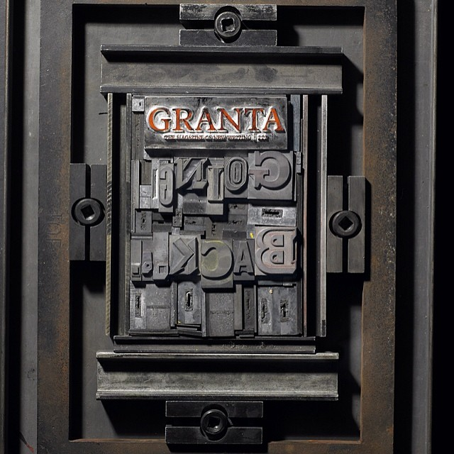 Archive: Our concept for the cover of Granta #magazine Going Back issue in 2011. We thought about how we used to preserve #memory and the mechanical processes involved. We collaborated with St Bride #printing #library to hand set the #cover. #type #metal #letterpress #typography #creativedirection #magazinedesign #machine #print #press #typefaces #graphicdesign #typedesign #texture #ink #industrial #books #booklovers #magazines #SaluArchive