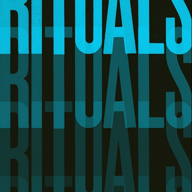 #Rituals. A detail from a #typographic series we created for novelist Cees Nooteboom and @maclehosepress we like our #design spare precise and narrative #typography #letterpress #blue #ritual #colours #graphicdesign #graphicart