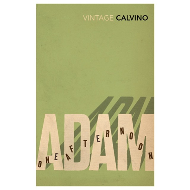 Adam One #Afternoon from our #typographic #bookcover series for #ItaloCalvino in 2008 #typography #shadow #booklovers #books #literature #calvino #italy #graphicdesign #typedesign #vintage #SALUarchive