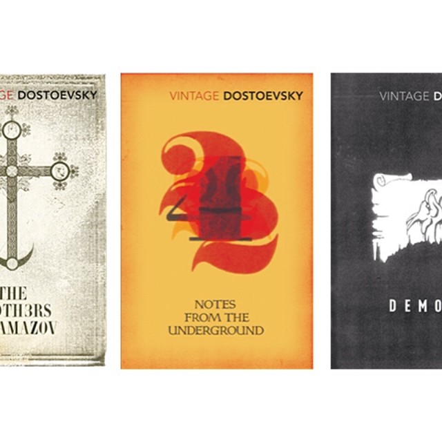 From our #dostoevsky #coverdesign series for #vintageclassics #2008. Still in the shops. #graphicdesign #bookcoverdesign #illustration