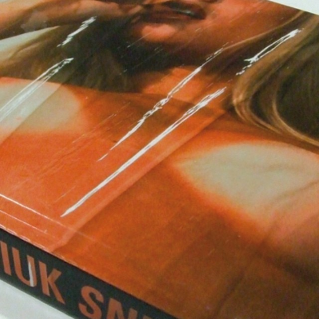 Our cover for #ChuckPalahniuk #Snuff #hardback for #jonathancape in 2008. Styled as an old VHS tape even the page ends were painted #black #skin #tan #tanlines #sexsells #lips #hot #flesh #body #shrinkwrapped #bookdesign #packagingdesign #saluarchive #coverdesign #literature #raw