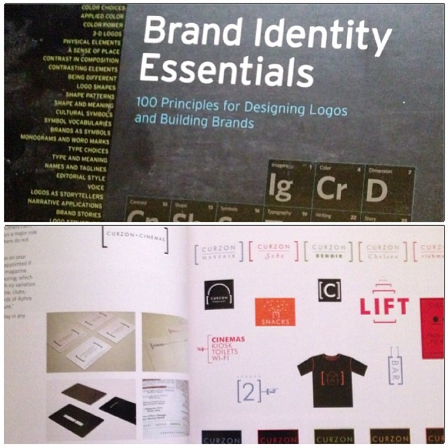 Old copy of #brand #identity essentials. Includes my #branding for @curzoncinemas alongside works from @pentagram and others #logo logotype #graphicdesign #brandsystems #artdeco inspired