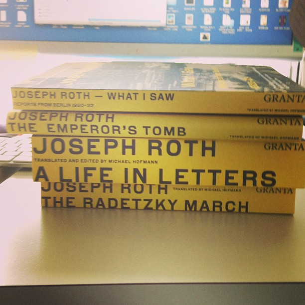 Next in our @grantabooks #JosephRoth #series arrived. #Designed by #A2SWHK #coverart #coverdesign #typography
