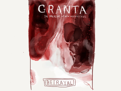 sketchthebook :    Granta 122: Betrayal  Made With  Paper      Lovely homage