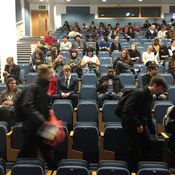 #audience arriving for the talk I gave on #Quantifying #creativity @wlv_uni on #friday.