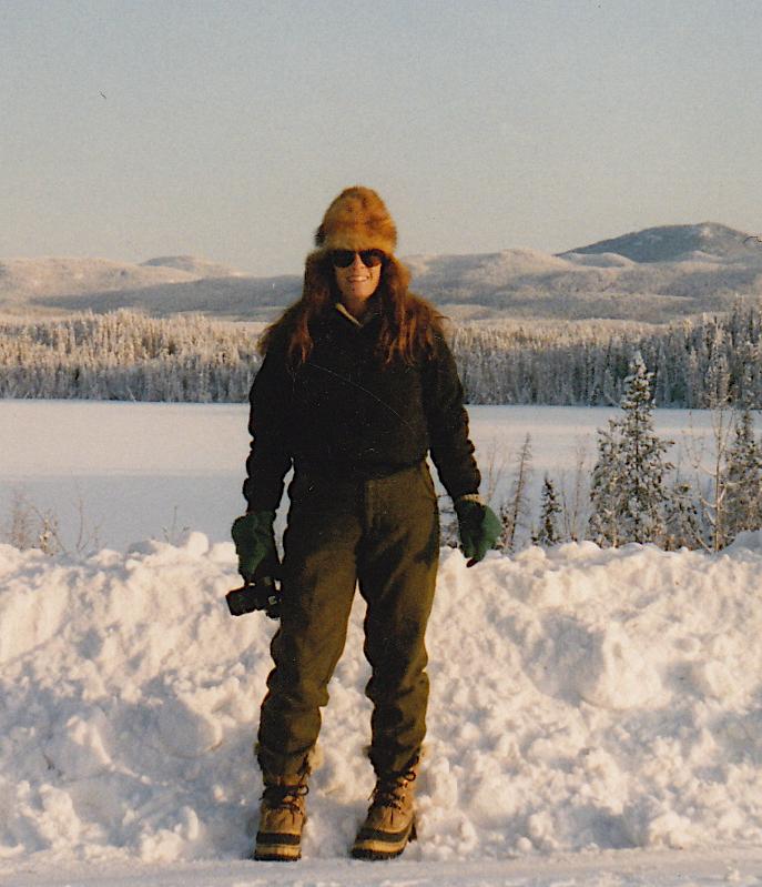 Camera in hand, interior alaska, circa 1994
