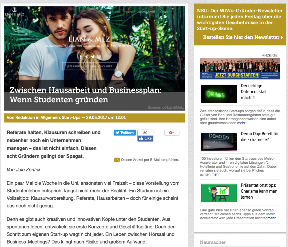 Article by Wirtschafts Woche  [click to read]