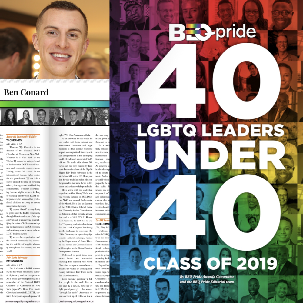 40 Under 40 LGBT Leaders by Business Equality Magazine
