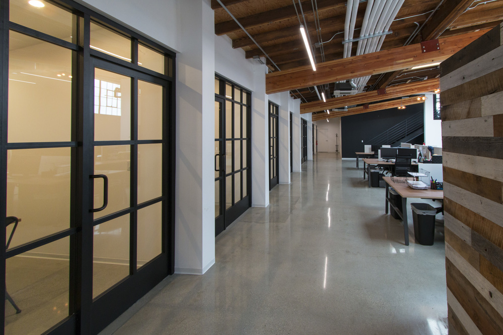 office hallway. office hallway e