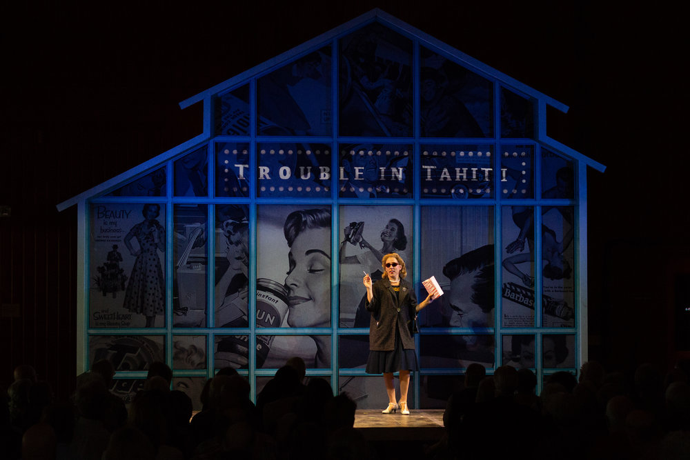 Dinah in  Trouble in Tahiti  at The Glimmerglass Festival 2018  Photo: Connor Lange