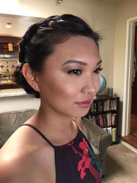 Bridal client | Hair: Kaela Yonemoto | Makeup by me