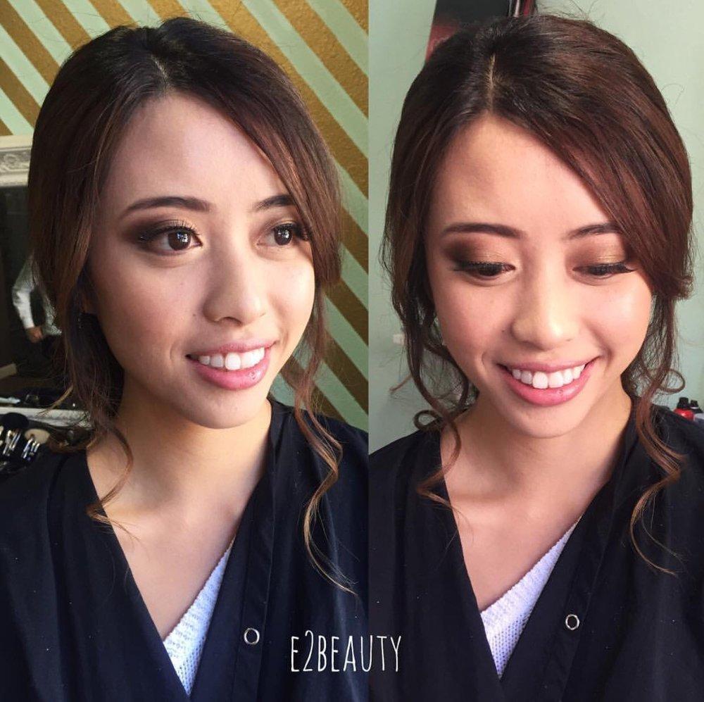 Bridal client | Hair: Genie Chung // E2 Beauty | Makeup by me