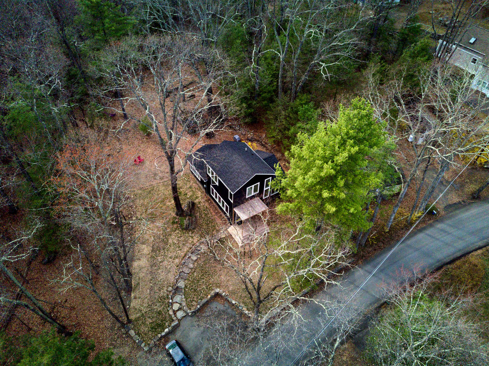 Aerial of Olivebridge Cottage, Catskills