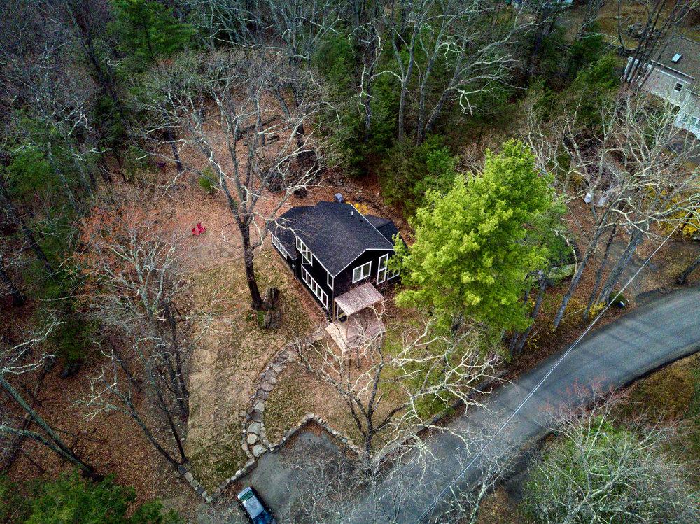 Aerial of Olivebridge Cottage, Catskills