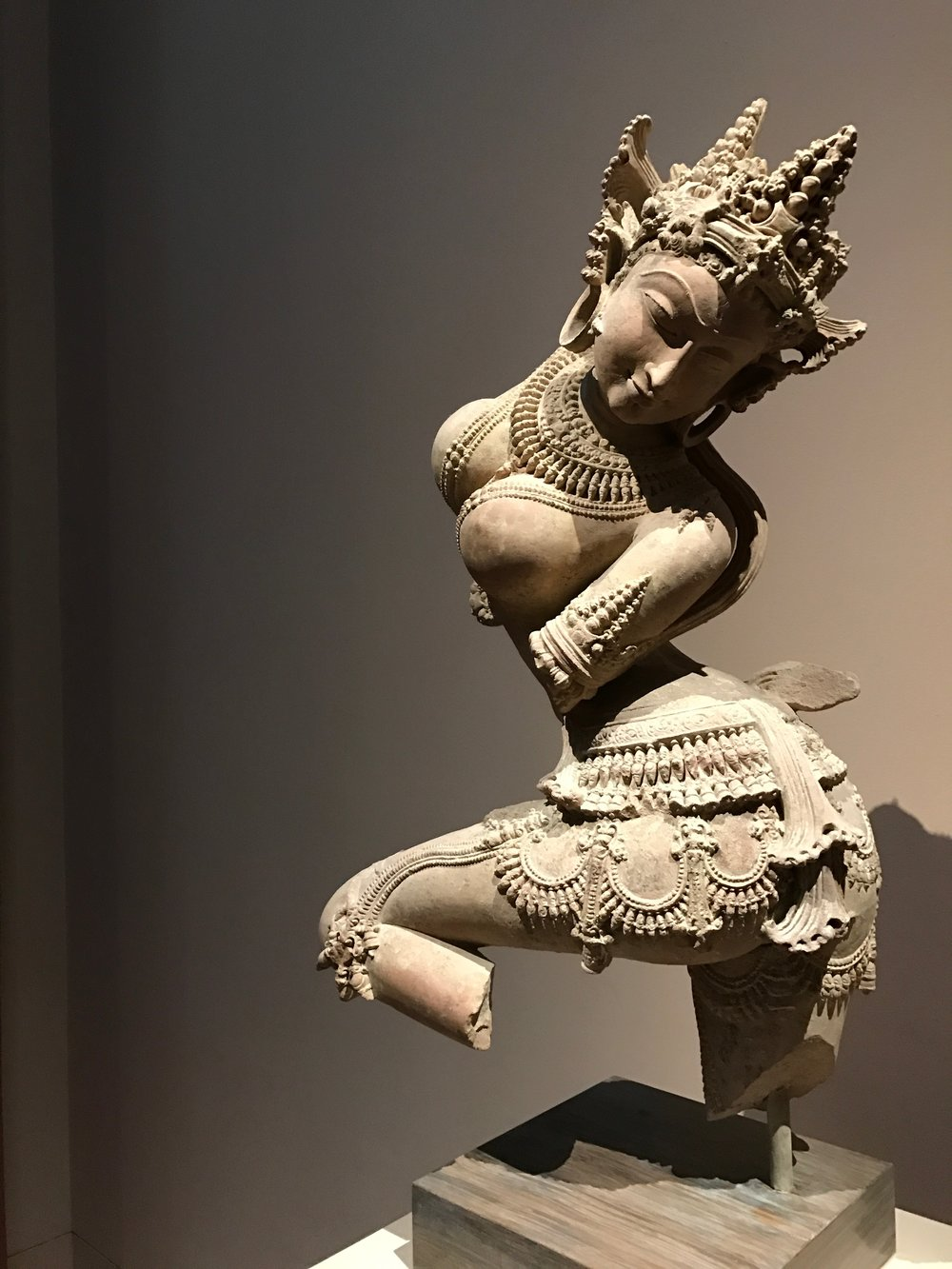 """Dancing Celestial Deity (Devata)"" - Probably among the sexier statues in any museum."