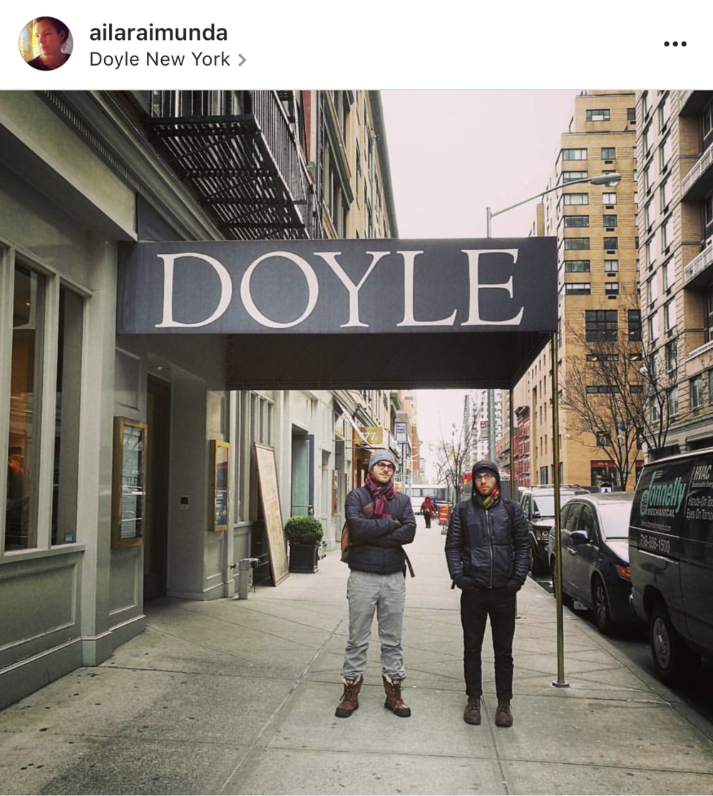 We spotted this Doyle awning and Annika instructed me and Dustin to stand under it for this IG photo.