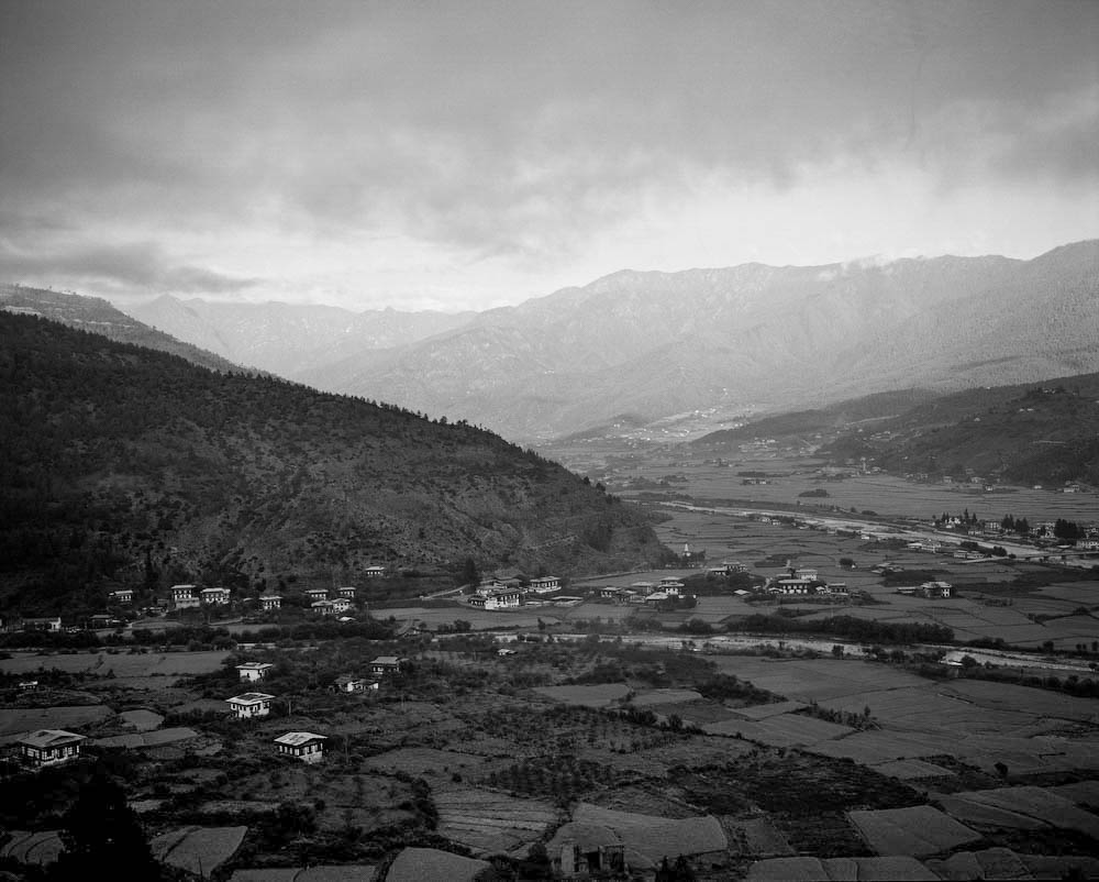 A view of the Paro, Bhutan.