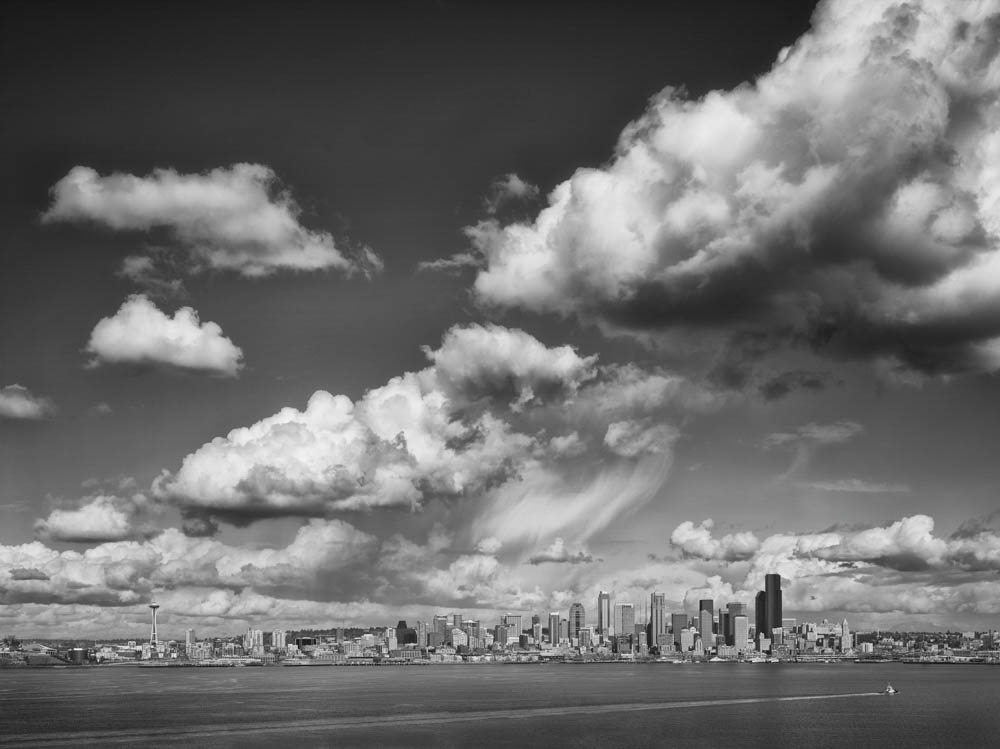 Clouds and Seattle Skyline