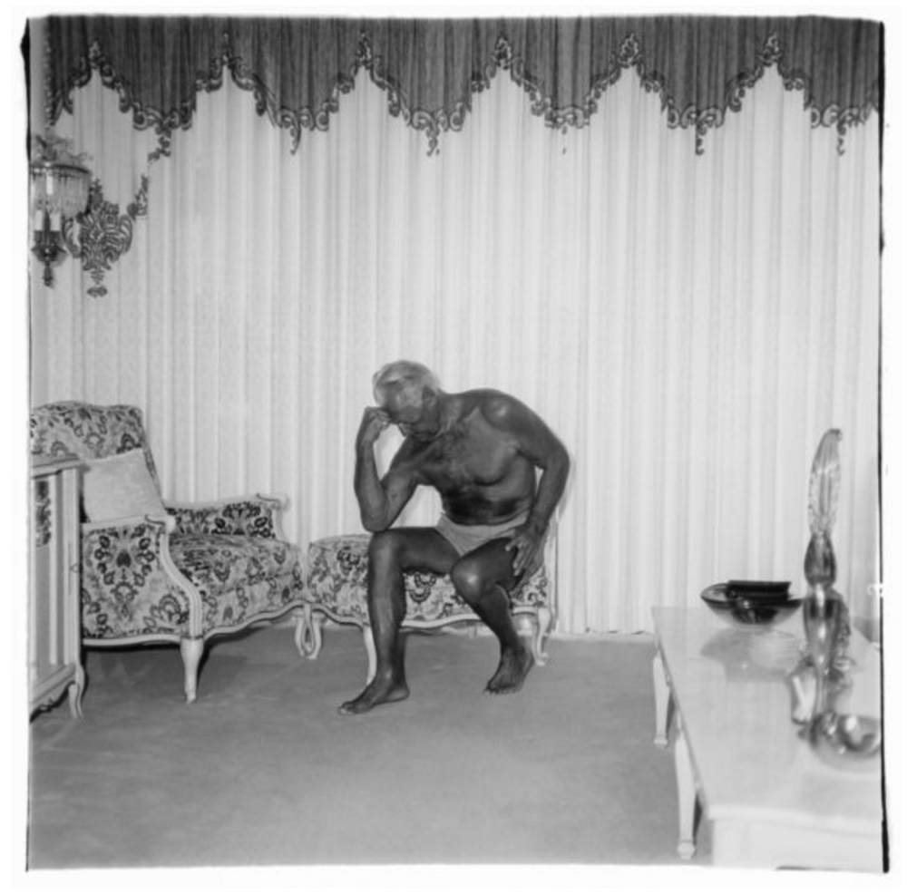 Charles Atlas seated in his Palm Beach home, Fla. 1969