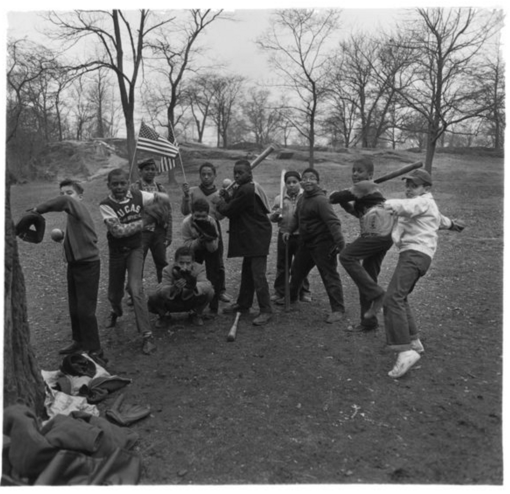 Baseball game in Central Park, N.Y.C. 1962