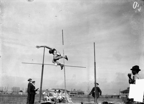 Athlete, Ward McLanahan, pole vaulting, 1904 Olympic Games