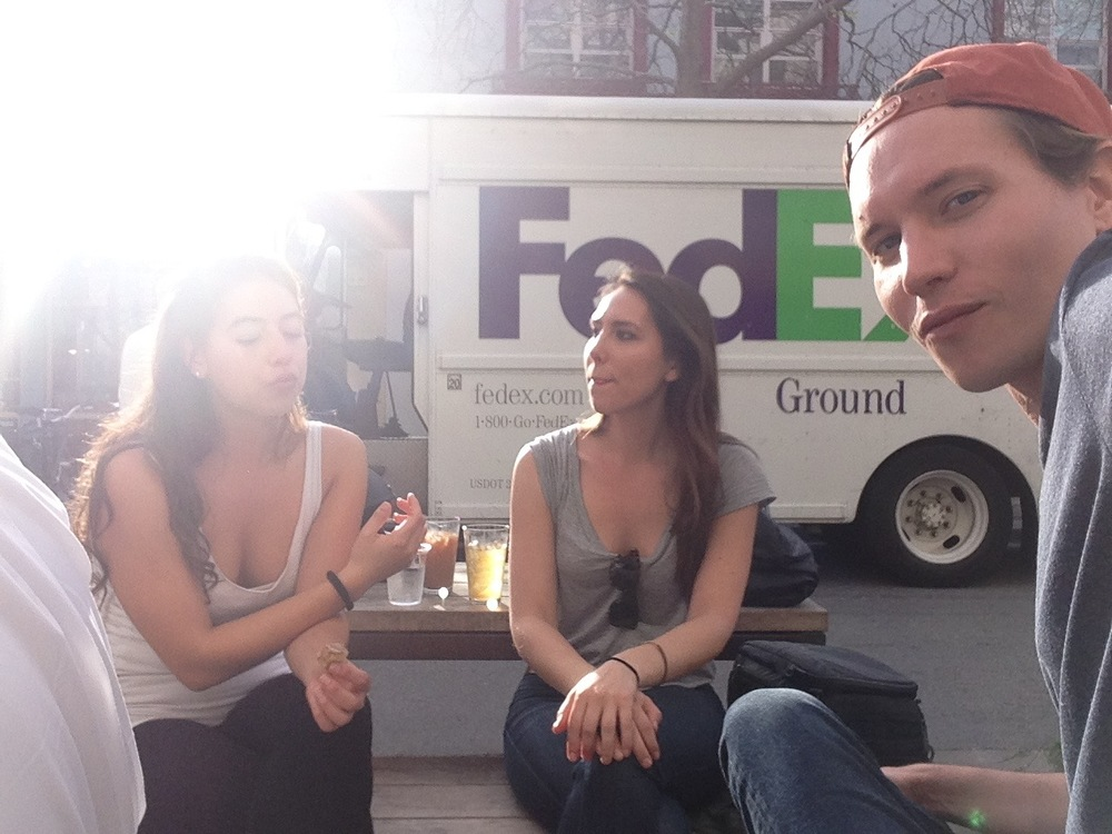 Nina, Britt and me.