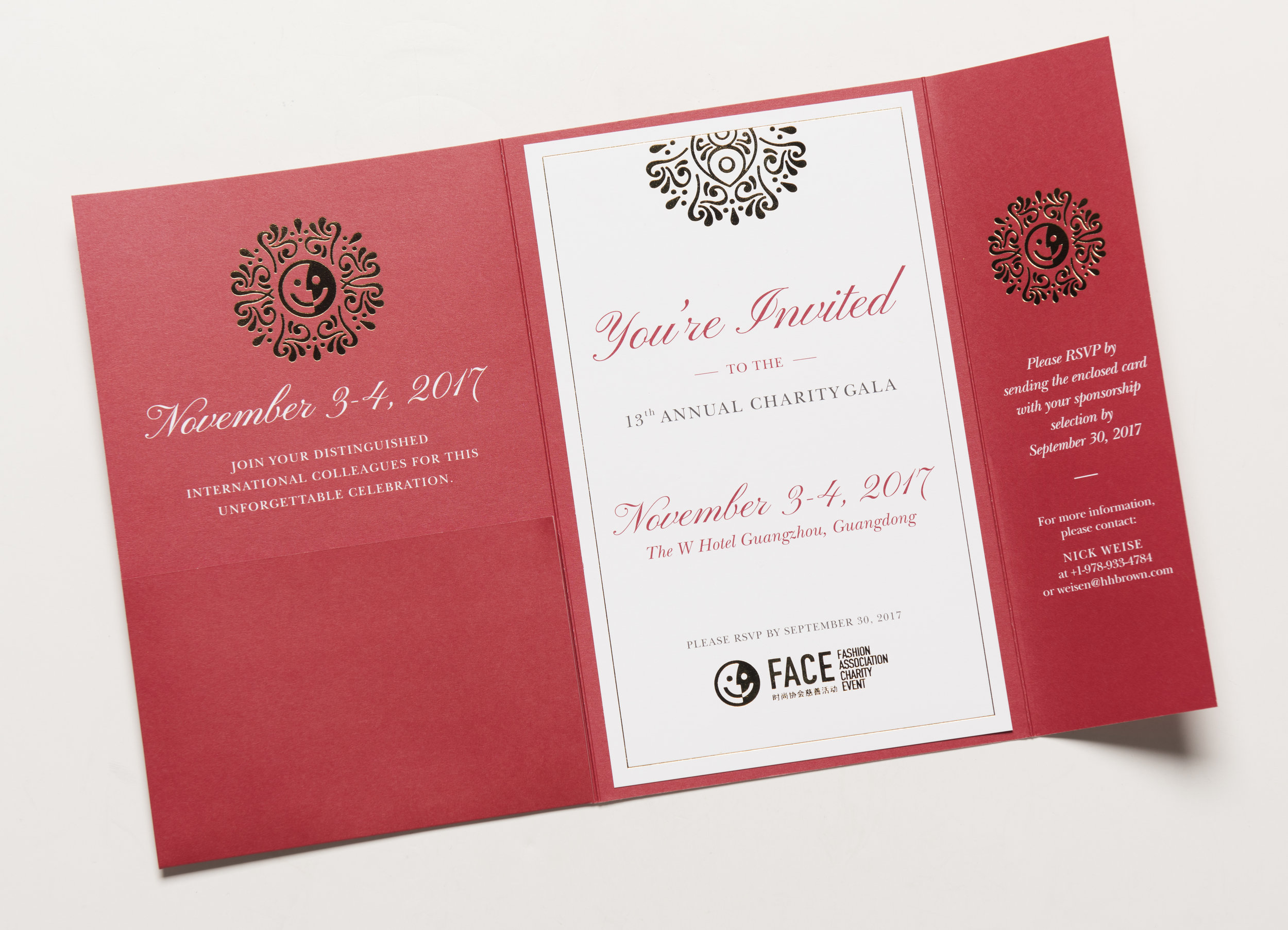 Fashion Association Charity Event Invites — Holly Jean Design
