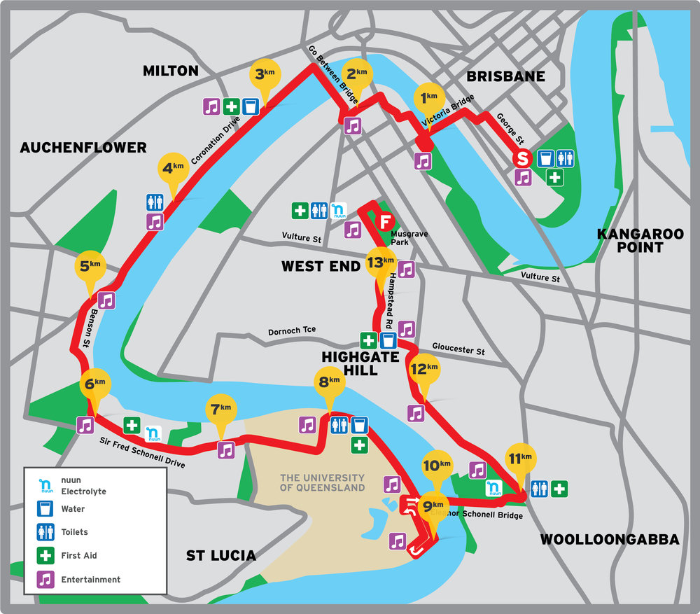 City2South 14km Course Map