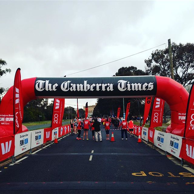 Who's ready to run?!! #canberratimesfunrun #letsgo