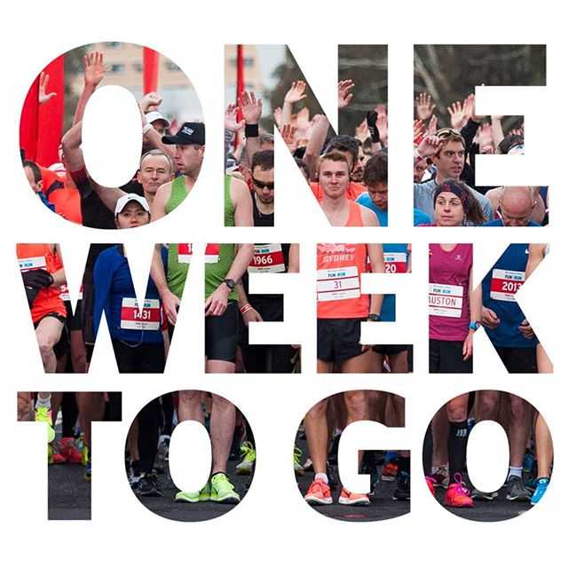 ONE WEEK to go until the #CanberraTimesFunRun! It's time to round your mates and family to secure your ticket if you haven't already.