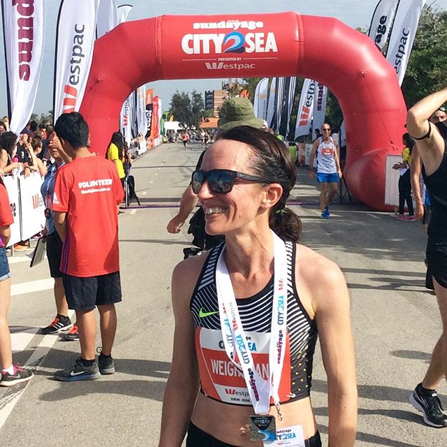 Thanks for coming @lisaweightman, it was great to see you out there - legend! #city2sea