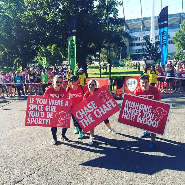 How good were the #nova cheerleaders!! @nova100 #city2sea 🙌🏼🙌🏼
