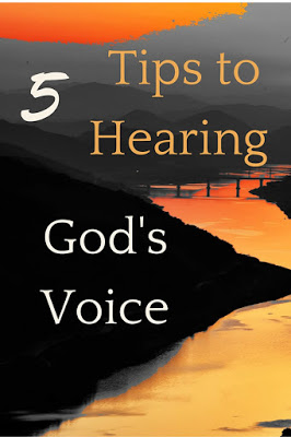 Most of the time I find myself praying for God to reveal these things to me now. But I also know that if I know the end results it will affect how I step. So here are a few tips for making sure you hear God's voice.