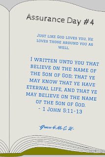 God loves you, he also loves those around you. His desire is that you will understand that. In understanding that you are loved he hopes you will share that love with others. You can be assured that you are saved because of your belief in Jesus. You can also assure others of this…. You are loved!