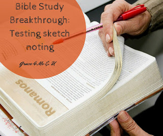 Bible Study is important. One way to do Bible Study as well as taking notes during sermons is through sketch noting. Find out what is working for me. | Grace 4 Me & U