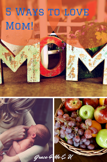 Do you know a mom who really needs to know she is loved? Check out this post with 5 ideas on how to love moms! | Grace 4 Me & U