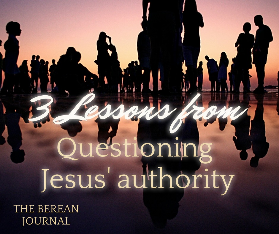 The Pharisee's questioned Jesus authority, is it from heaven or earth. Join me as we check out the scripture from that exchange.