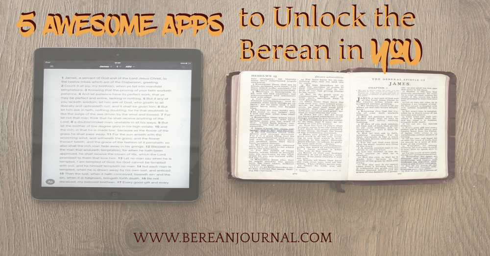 Whether you are a beginner, women or teen, here are 5 of the best Free Apps for Bible Study. Some have reading plans and topics to guide your study of the Scriptures.