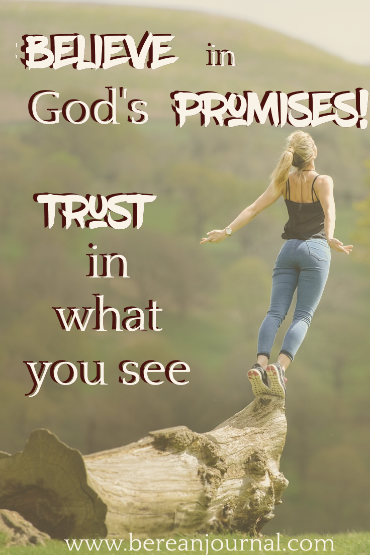 Sometimes as adults we hear God's promises but we doubt his goodness. Even when God gives us what He promised, we still doubt. Check out this post for a reminder to trust in what you can see.| Join the conversation at www.facebook.com/bereanjournal