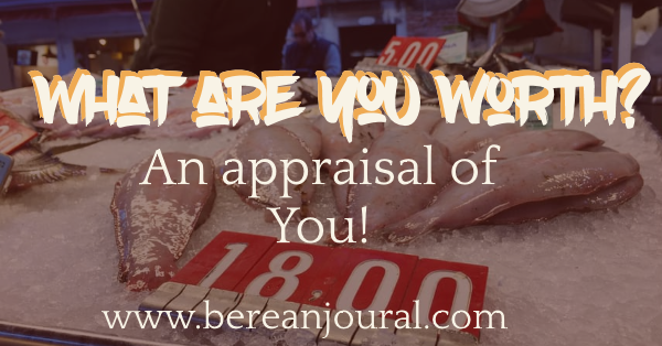 Do you know your value? Appraisers decide how much something is worthy by comparing it to what others have been willing to pay for it. Well in this article you will be reminded that you have been bought with a great price. | IG - www.instagram.com/bereanjournal | Pinterest | www.pinterest.com/bereanjournal