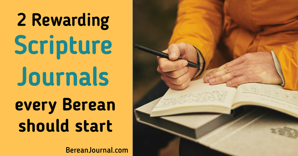 Do you need ideas on how to start a scripture journal? There are different types of scripture journal notebooks and here are 2 DIY scripture journals that work together and separately. | Instagram -  www.facebook.com/bereanjournal  | Pinterest -  www.pinterest.com/bereanjournal
