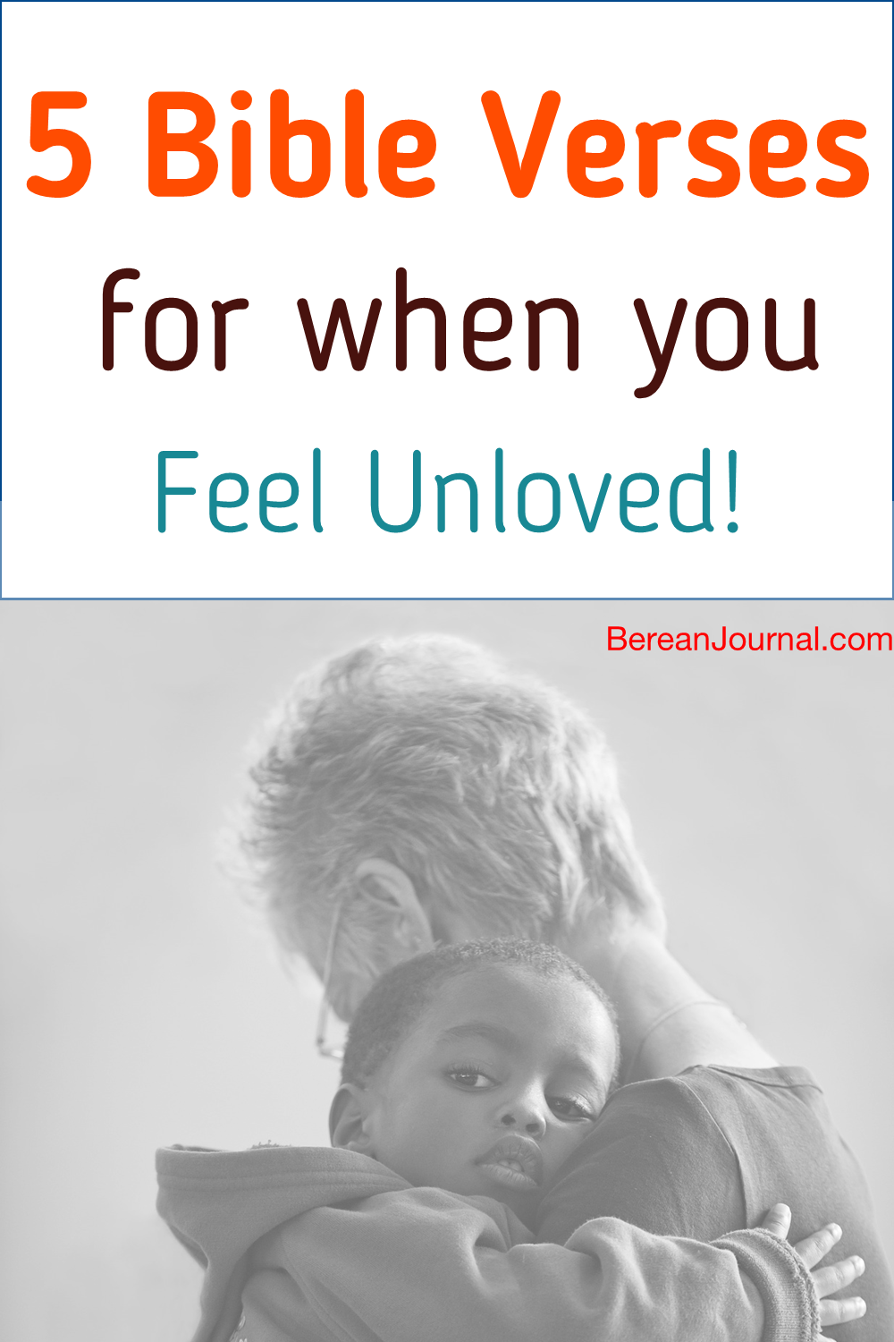 On those days when you are feeling unloved, Jesus Christ wants you to know that isn't the case. Find 5 Bible Verses for when you unloved and unwanted. For more inspiration follow me on Facebook @ www.facebook.com/BereanJournal