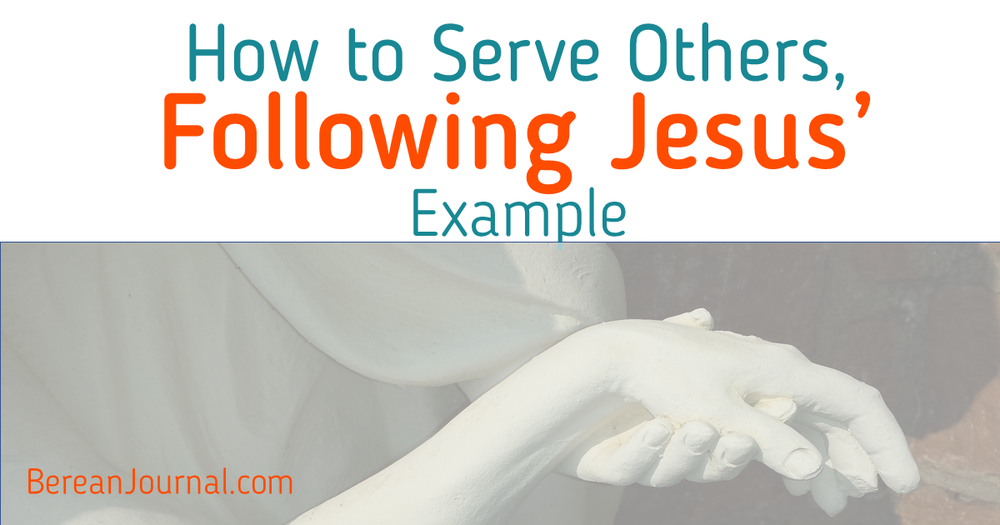 It is time to serve one another. Check out these Bible verses to see how Jesus served and learning to model the best server ever. Follow me on Pinterest at www.pinterest.com/bereanjournal for more inspiration in ministry.