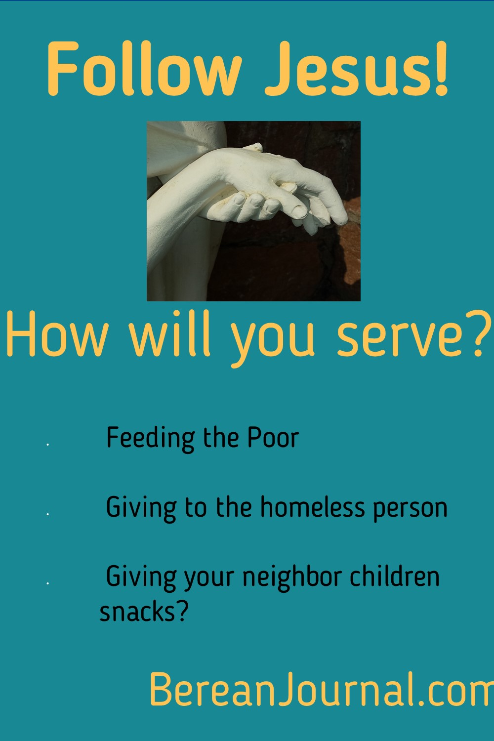 Serving others like Jesus