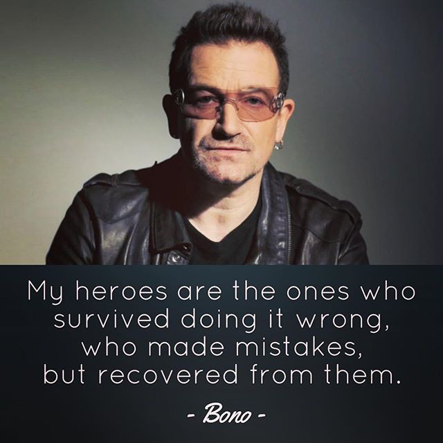 Who is your hero?  My heroes are not the successful ones. They are the ones who keep getting up after being knocked down!  #ontopoftheworld #nevergiveup #bono #lifequotes #heroes #producer #producerlife #songwriter #songwriting #reaul #u2