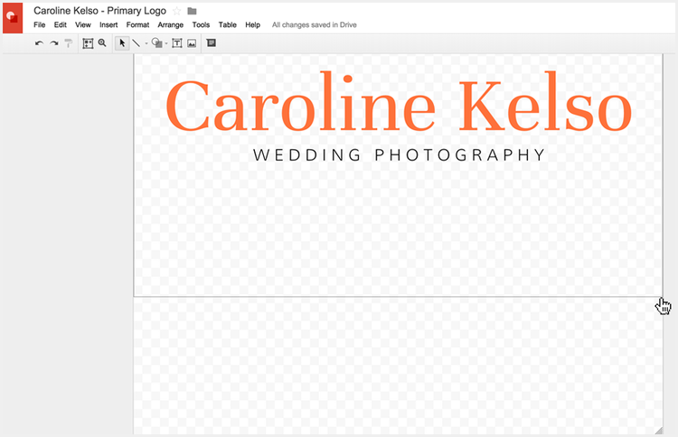 Cropping your logo in Google Drawings