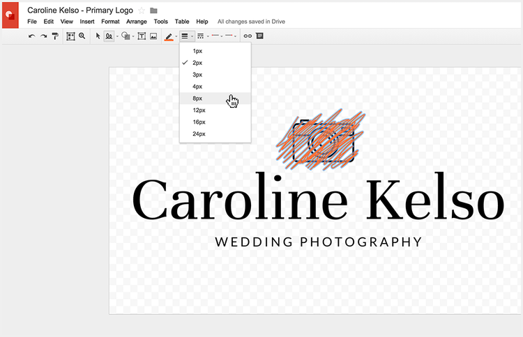 Adjusting a custom logo without Photoshop
