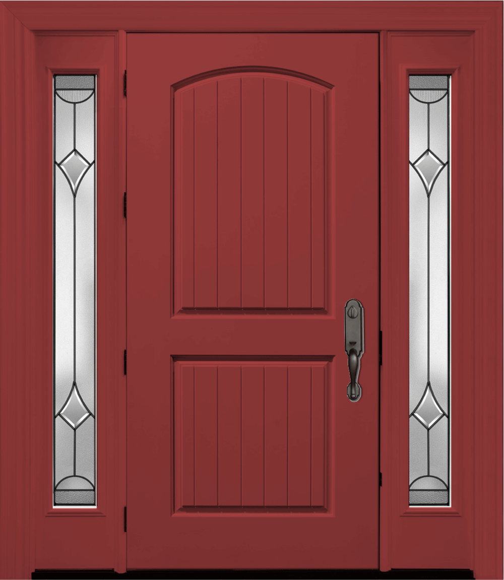 Solid mahogany painted front door color